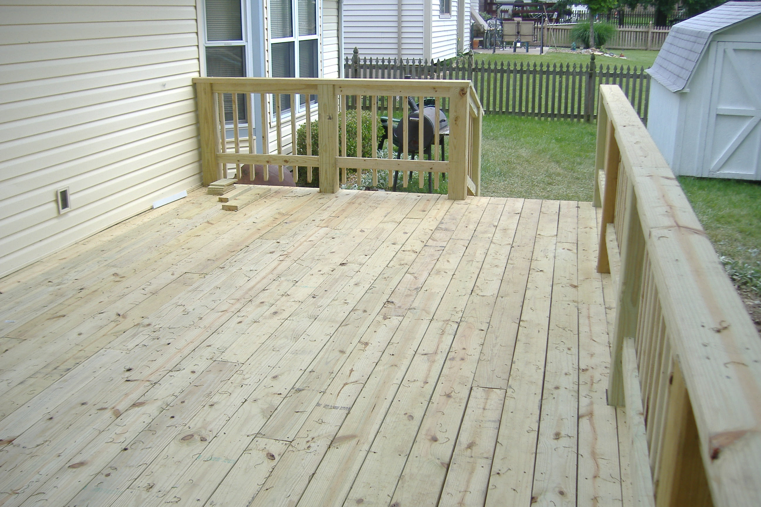 Wood decking treated wood decking installation for Pressure treated decking
